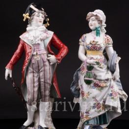 Фарфорвая статуэтка Галантная пара, Германия,, кон. 19 в.